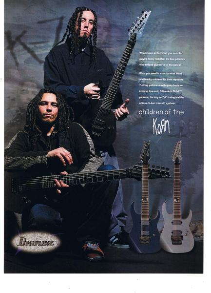 コーン Ibaneze ギター USA 広告 2001年