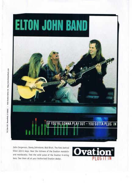 オベーション PLUG IT IN  広告 1997年 エルトン・ジョン