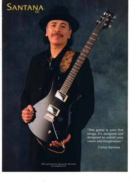 カルロス・サンタナ ギター USA 広告 2001年