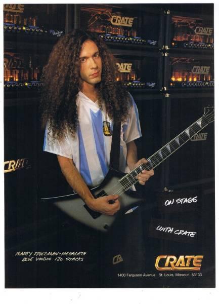 マーティ・フリードマン CRATEギターアンプ USA 広告