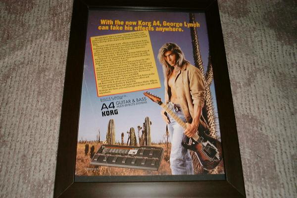 KORG A4 ギター ジョージ・リンチ USA 広告1993年