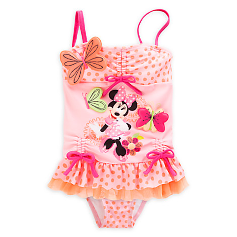 ec31bacea1 Disney Minnie Mouse girls swimsuit separate 100cm new goods 3~4 -years old