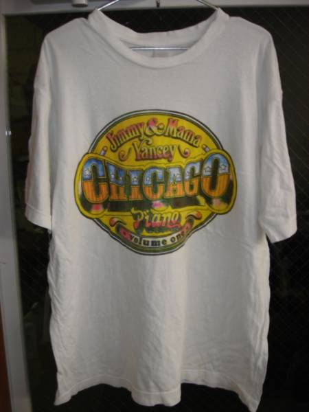 0807ビンテージJimmy&MamaYancy CHICAGOPIANOVOLUMEONE TシャツBLUESブルースOLDオールド
