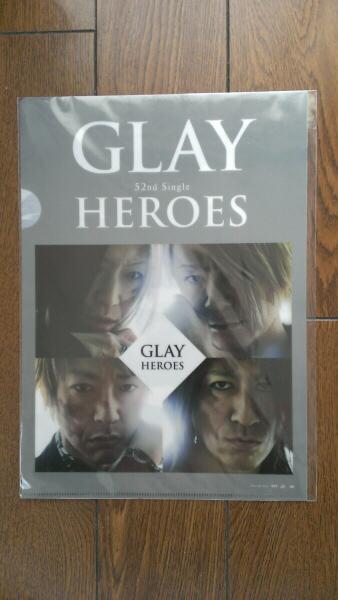 GLAY HEROES CD購入者 クリアファイル 当たり 函館 TERU JIRO HISASHI TAKURO G4
