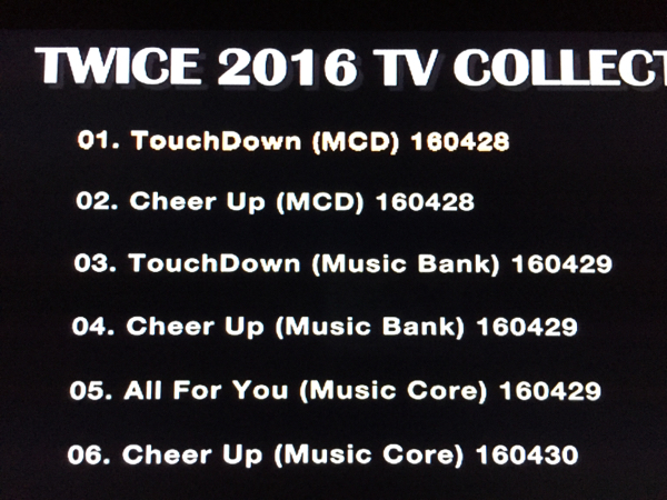 TWICE 2016 TVコレクション DVD レーベル有・即決・送料無料
