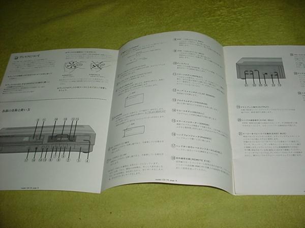 即決!マランツ CDプレーヤー CD-75の取扱説明書_画像2