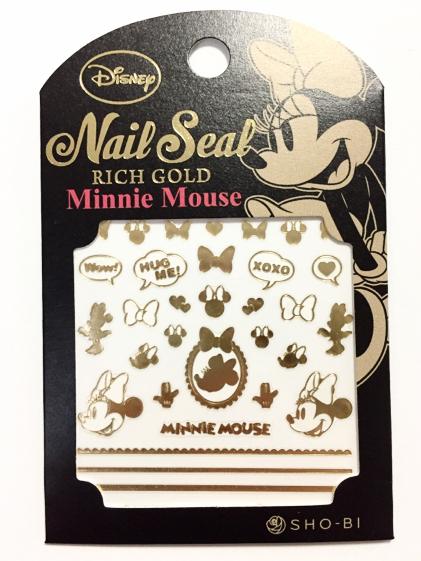 _ ミニーマウス Disny ネイルシール ネイルアート 550円 新品 簡単に可愛いネイルができる 金パーツ_画像1