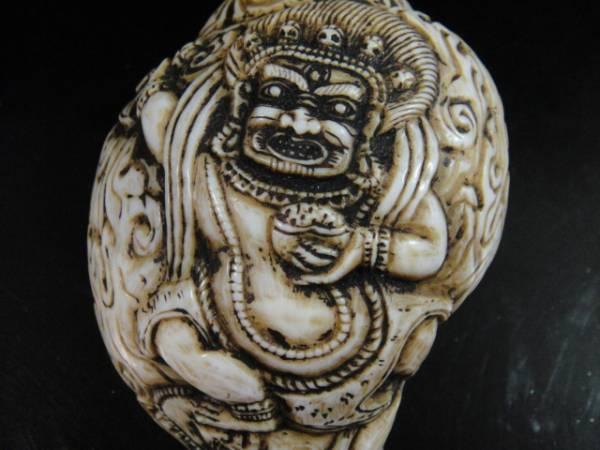 チベット密教法具 法螺貝(シャンカ)マハーカーラ(大黒天)