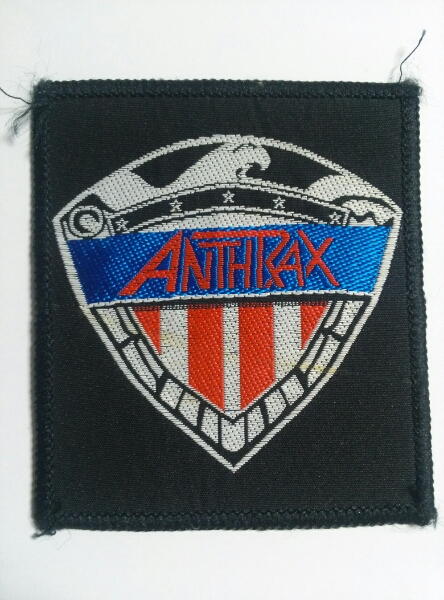 ANTHRAX 刺繍パッチ ワッペン I am the law/napalmdeath s.o.d