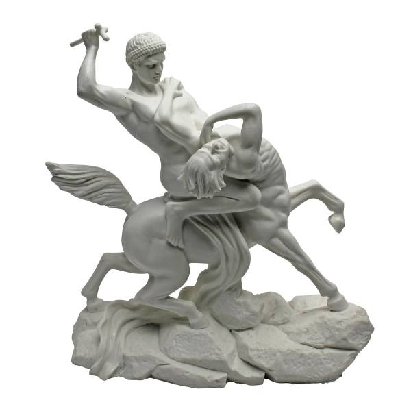 ケンタウロスと戦う ギリシャ神話大理石彫刻置物美術品工芸品西洋彫刻洋風オブジェ雑貨飾りインテリア装飾品小物オブジェホームアクセント_画像1