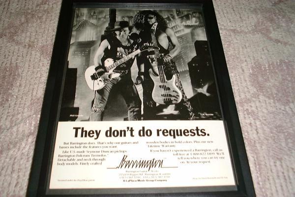 Barrington ギター ベース 広告 1991年 T.M.Stevens