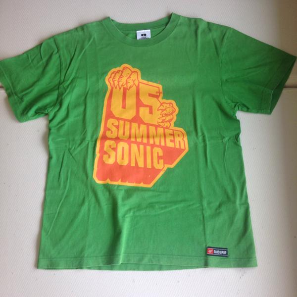 《美品》☆★☆サマソニ2005 プリントTシャツ グリーン☆★☆ ライブグッズの画像