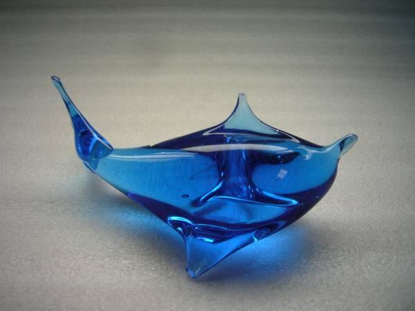 X ドルフィン イルカ ガラス置物 116mm ジャンク _画像3