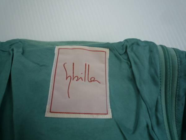 【お買い得!】 ● Sybilla / シビラ ● ロングスカート 緑系 63-90 無地_画像3