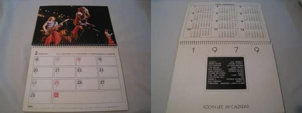 ROCK'N LIFE MY CALENDAR 1979 ワーナー_画像2
