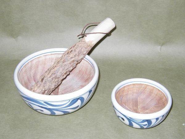 砥部焼「すり鉢(小)」_画像1