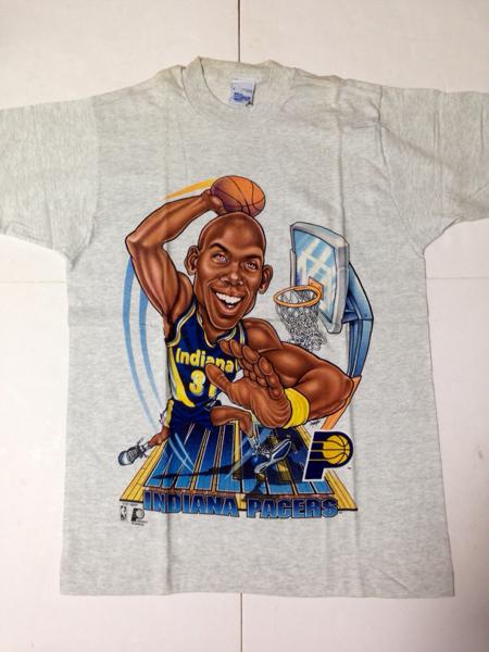 新品:デッド■PACERS:ペイサーズ レジー ミラー USA製 Tシャツ NBA 90s 31 グッズの画像