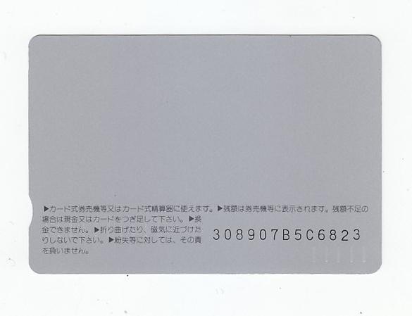 未使用オレンジカード1000「中嶋朋子/JR北海道」_画像2