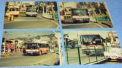 伊予鉄道バスの最後のツーマン系統急行八幡浜港ゆきのバスの写真