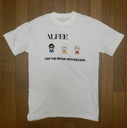 アルフィー『 ALFEE FOR THE BRAND-NEW DECADE Tシャツ 』