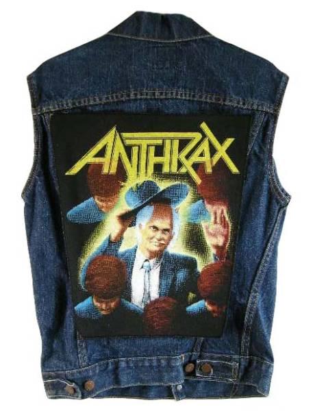 ANTHRAX 80S VINTAGE デッドストック ヴィンテージ ワッペン バックパッチ ZORLAC POEWLL