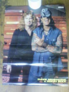 ポスター DAVE MUSTAINE NIKKI SIXX Megadeth MOTLEY CRUE