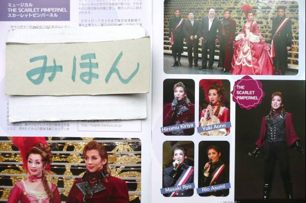 宝塚明日海りお龍真咲安蘭笹本玲奈劇団四季高畑充希写真本チラシ
