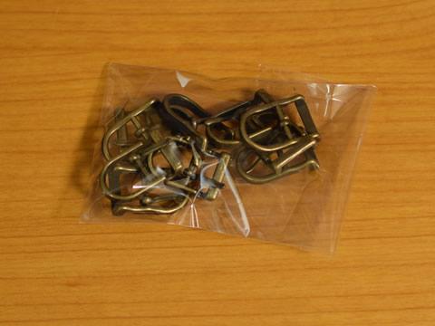 美錠(バックル) 12mm アンティークゴールド 尾錠 10個セット_画像3