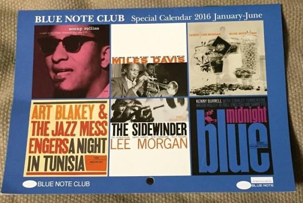 BLUE NOTE CLUB◆2016年1月~6月カレンダー◆アルバムカバー
