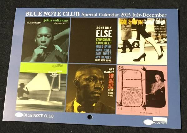 BLUE NOTE CLUB◆2015年7月~12月カレンダー◆アルバムカバー