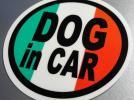 r1*DOG in CAR Italy national flag sticker dog * seal _ EU
