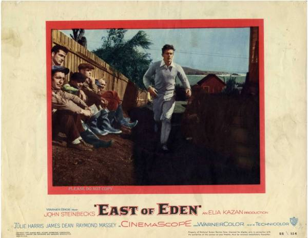 1955年 エデンの東 ジェームズ・ディーン・ジュリー・ハリス  ロビーカード2枚付き