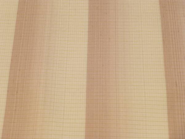 新品正絹反物★新潟県・十日町紬着尺★生成りと薄茶の縞柄です_画像3