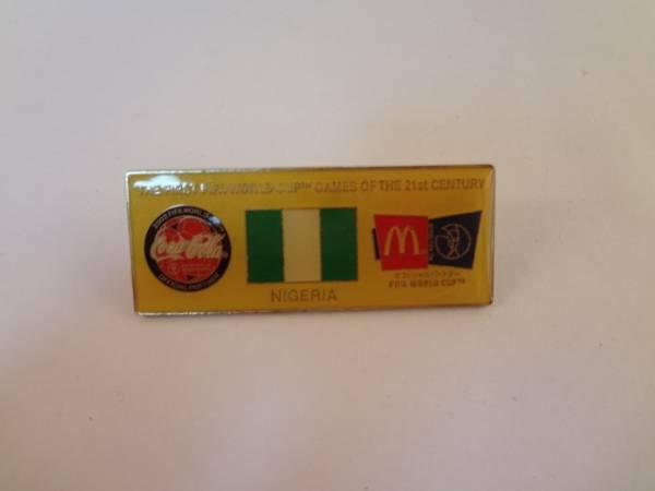 ワールドカップ コーラ マクドナルド ピンバッジ ナイジェリア