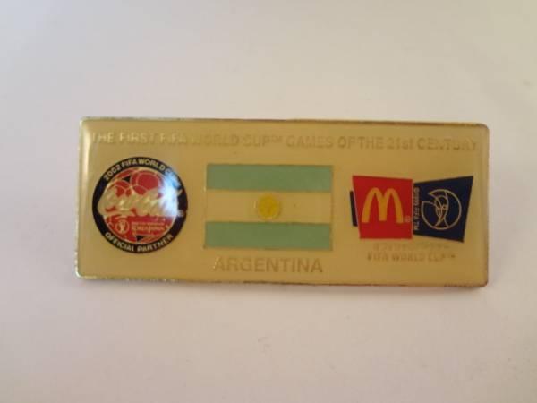 ワールドカップ コーラ マクドナルド ピンバッジ アルゼンチン
