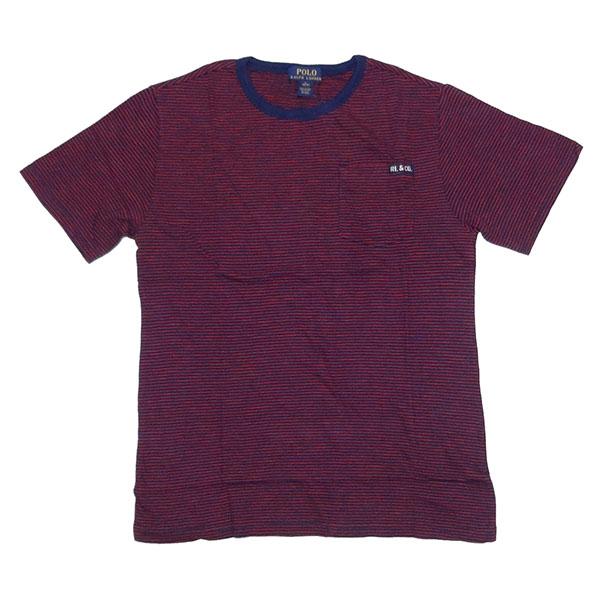 新品 POLO RALPH LAUREN BOYS S/S T-SHIRT ポロ ラルフローレン ボーイズ 半袖 Tシャツ レッド ネイビー ボーダー ポニー L 正規品 95B_画像3