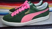 即決送料無料 希少 美品 93's 90s製 puma suade プーマ スエード 緑×ピンク 27,5cm