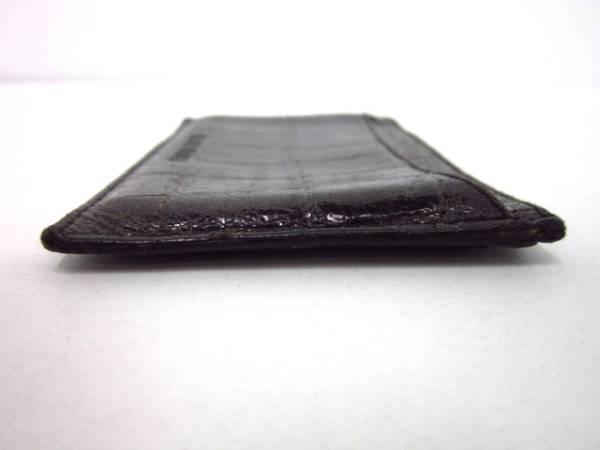 美品 ■ ミュウミュウ ■ miumiu ■ クロコ型 ■ カードケース 名刺入れ ■ ダークブラウン系 ■ 送料120円_収納 スペース(ポケット)は 3箇所です。