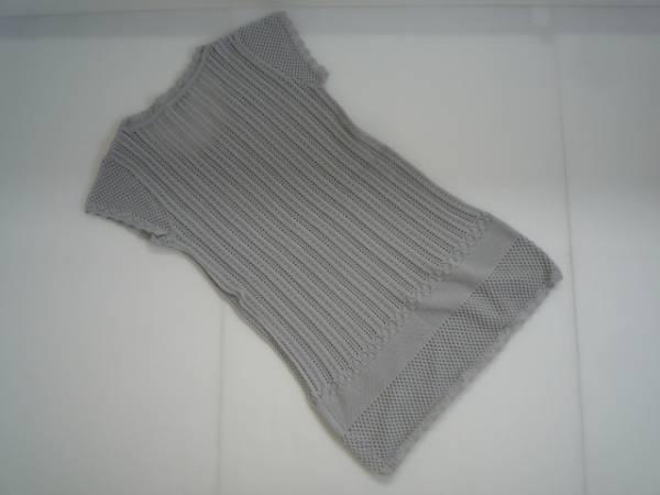 【良品!】 ◆ Leon ◆ カギ編みチュニック 半袖 S グレー_画像2