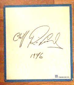 クリフ・リチャードのサイン色紙 Cliff Richard