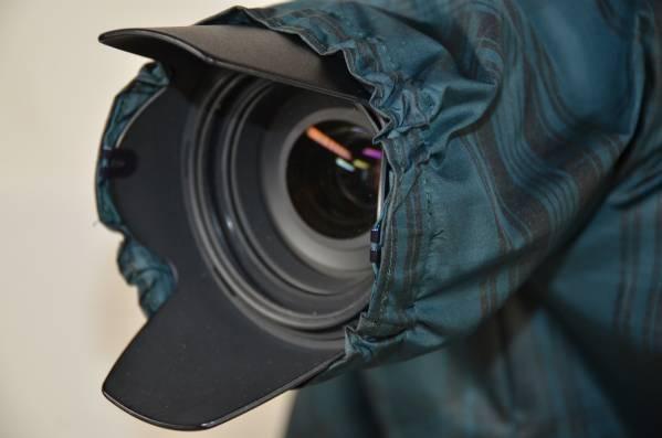 カメラ用レインカバー ズームレンズ用 グリーンチエック柄_画像2