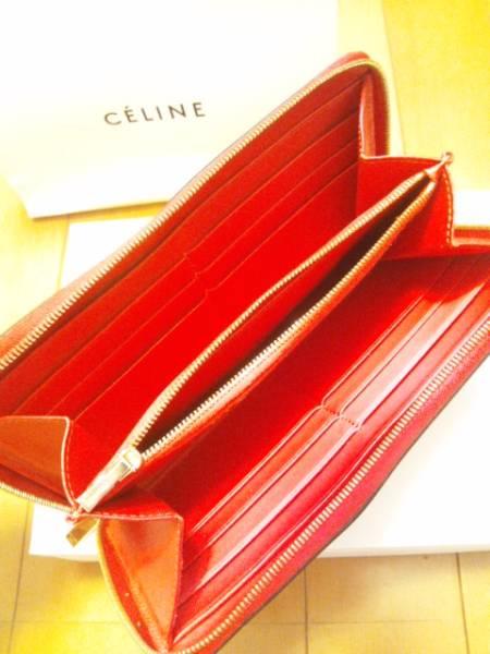即決◆CELINE セリーヌ 長財布 赤 レッド Zipped ジップド◆_画像2