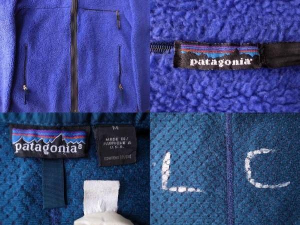 1993年 USA製 パタゴニア レトロカーディガン 雪なしタグ コバルト ブルーグラス フリース ジャケット M PATAGONIA Retro Cardigan レトロ/_画像3