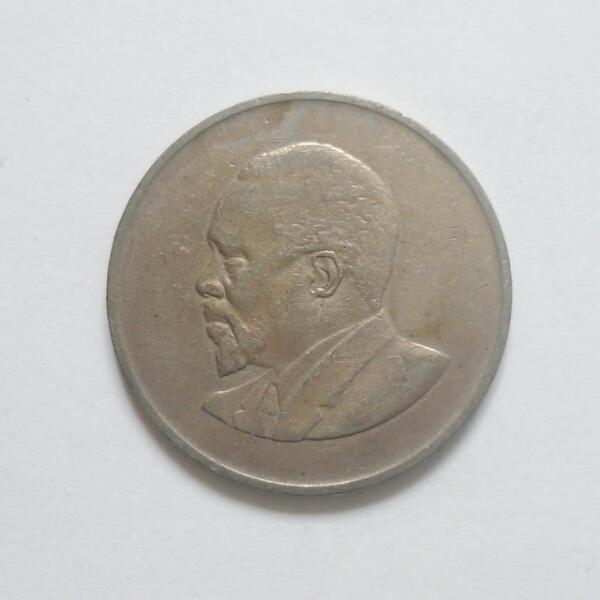 【ケニア】1シリング硬貨 1968年_画像2