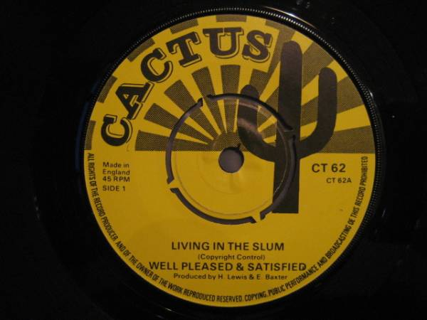 ■Well Pleased & Satisfied/Living In The Slum■KILLER ROOTS_画像1