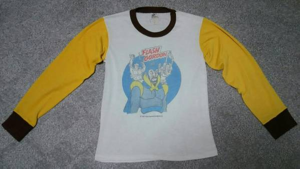 即決で送料無料 超希少 良好 70s usa製 ビンテージ sears フラッシュゴードン 長袖Tシャツ S シアーズ // pennys bigmac bigyank アメコミ_画像1