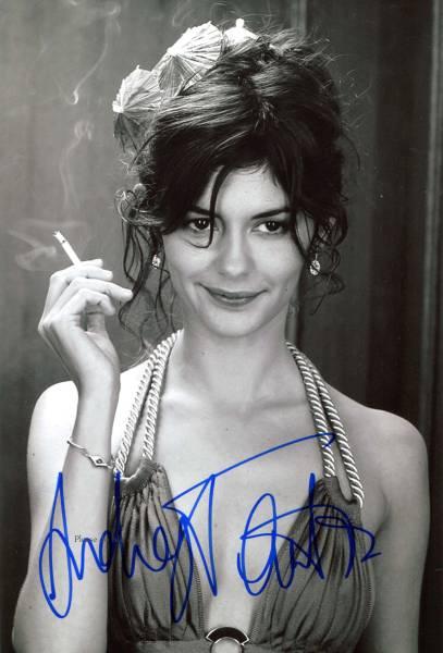 2001年 映画『アメリ』オドレイ・トトゥ サイン フォト