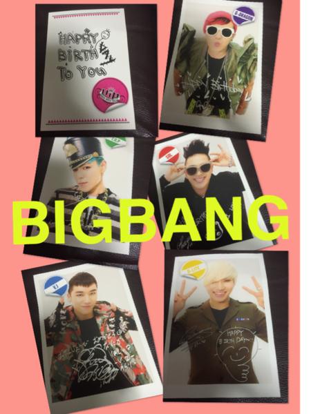 新品☆BIGBANG ハッピーバースデー 非売品 写真立てポストカード