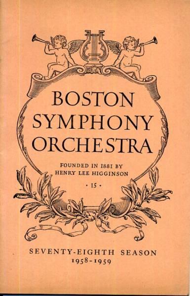1958-1959年◇BOSTON SYMPHONY ORCHESTRA(英字)