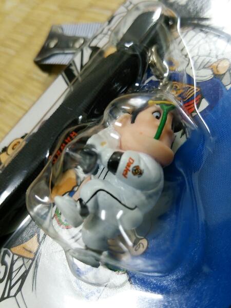 ドカベン/プロ野球編 ホークス岩鬼 ストラップ 未開封品_画像1